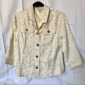 Women's  3/4 Sleeve Jacket, White